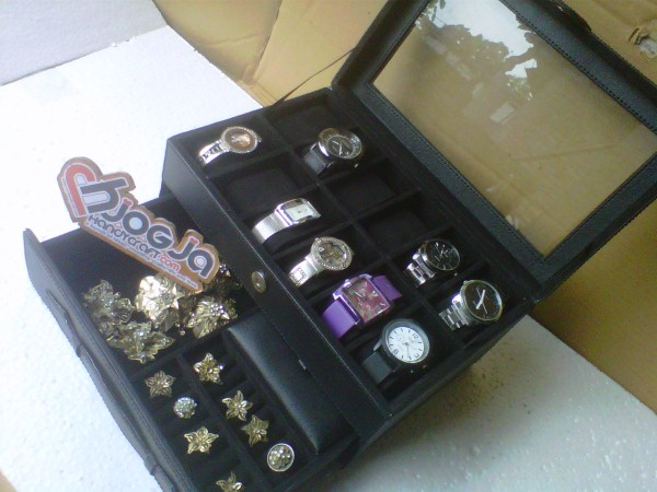 Box Jam Isi 12 Plus Laci Tempat Perhiasan