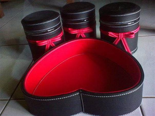 Tray Set Toples Isi 3 Toples Red Black