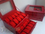 Red Croco Box Jam Tangan Susun Isi 20