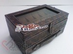 Box Jam Isi 12 Laci Accesories Motif LV With Transparant Mirror