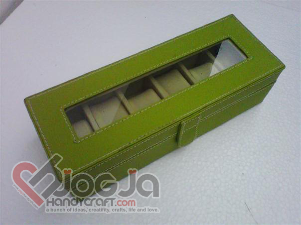 Box Jam Tangan Isi 6 Green Inner Cream