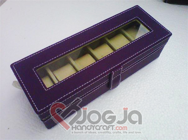 Box Jam Tangan Isi 6 Purple Inner Cream