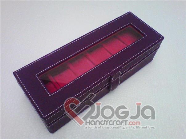 Box Jam Tangan Isi 6 Purple Inner Pink