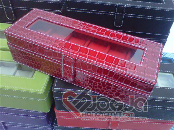 Box Jam Tangan Isi 6 Red Croco