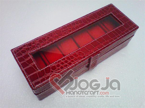 Full Color Box Jam Isi 6 Red Croco