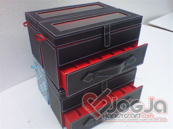 Box Jam Susun Slot 12 Black