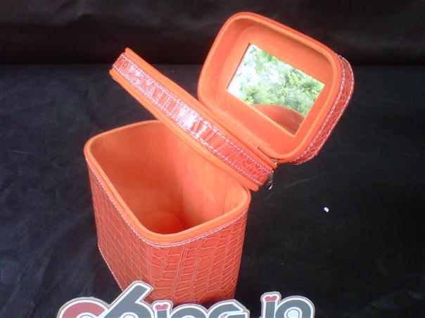 Make Up Case Double Orange Croco