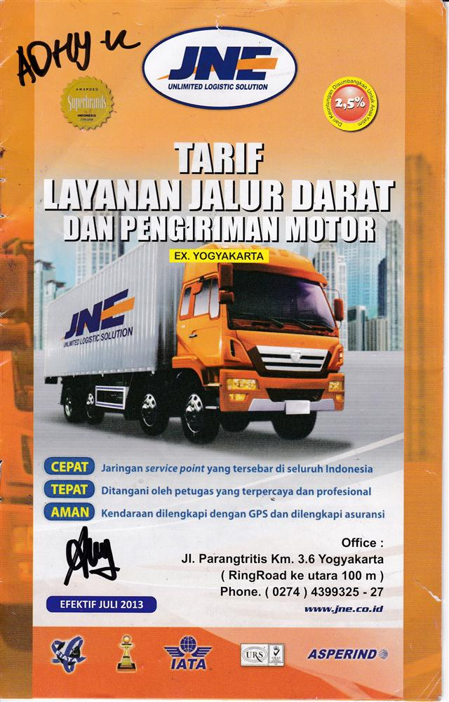 Tarif JNE Tracking Origin Yogyakarta_Jogjahandycraft.com 1