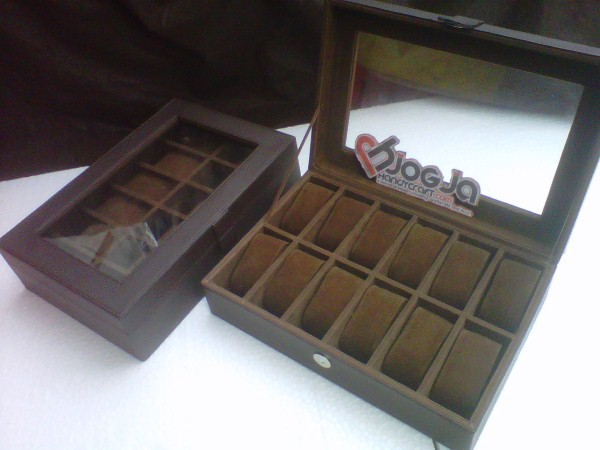 New Box Jam Tangan isi 12 Jogja Handycraft Brown