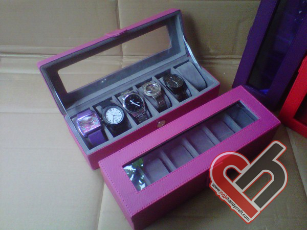 New Watch Box Organizer Isi 6 Jogja Handycraft