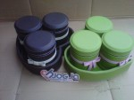 Set Toples Vinyl Cantik Bentuk Love Isi 3 Toples