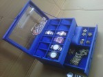 Benheur Blue Watch Box Organizer Isi 12 Mix Accesories Drawer