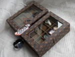 LV MONOGRAM WATCH BOX ORGANIZER FOR 12 WATCHES
