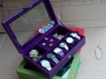 Cute Purple 3in1 Boxes | Kotak Jam Kombinasi Perhiasan Cantik