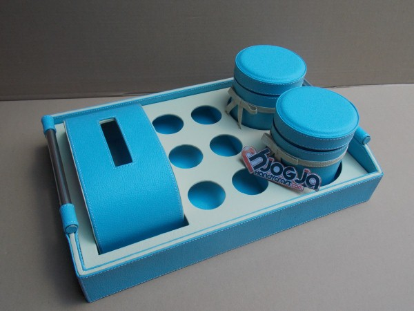 TRAY SET PRAKTIS 3IN1 2 TOPLES, 6 AQUA HOLE DAN 1 TISSUE BOX PANJANG