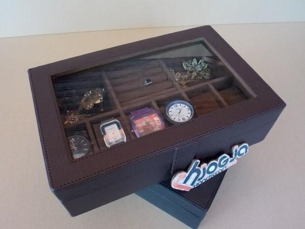 Kotak Jam Kombinasi Perhiasan Cantik