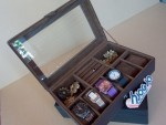 Full Dark Brown 3in1 Boxes Organizer | Kotak Jam Kombinasi Tempat Accesories