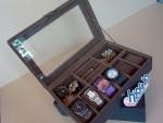 Full Dark Brown 3in1 Boxes Organizer | Kotak Jam Kombinasi Tempat Accesories