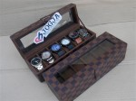 LV DAMIER WATCH BOX ORGANIZER FOR 6 PCS WATCHES | BOX JAM ISI 6 MOTIF LV DAMIER