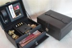 FULL BLACK JEWELRY BOX | TEMPAT PERHIASAN | KOTAK PERHIASAN