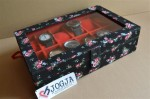 FLORAL BLACK WATCH BOX FOR 12 PCS WATCHES | KOTAK JAM TANGAN ISI 12