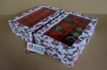 WHITE FLORAL WATCH BOX FOR 12 PCS WATCHES | KOTAK JAM TANGAN ISI 12