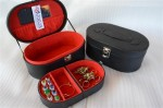 BLACK INNER RED OVALIUM JEWELRY BOX | KOTAK TEMPAT PERHIASAN DAN ACCESORIES
