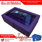 Full Purple Watch Box / Box Jam / Kotak Jam / Tempat Jam isi 12