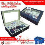 Black Cream Watch Box Mix Ring Organizer | Tempat Jam Tangan Mix Tempat Cincin