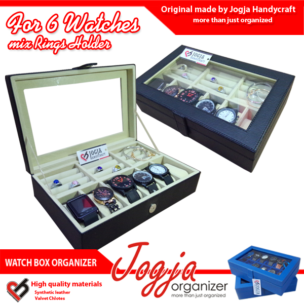 Watch Box Mix Ring Organizer | Kotak Jam Kombinasi Tempat Cincin