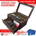 LV Damier Watch Box For 24 Watches – Kotak Jam Tangan Susun Isi 24