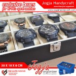 Exclusive Large Size Watch Box With Lock | Kotak Tempat Jam Tangan