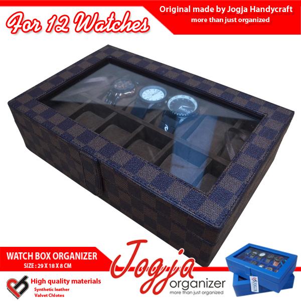 Kotak Jam Tangan isi 12 Motif Damier