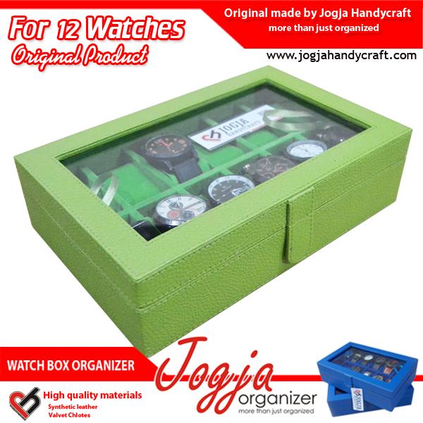 Kotak Jam Tangan isi 12 Full Green