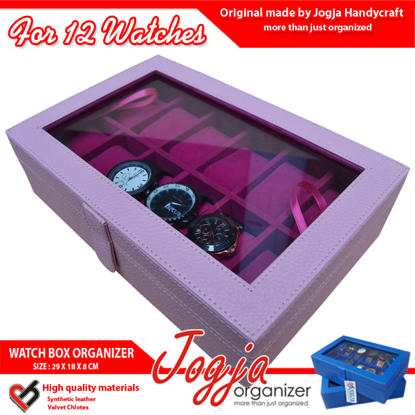 Kotak Jam Tangan isi 12 Baby Pink