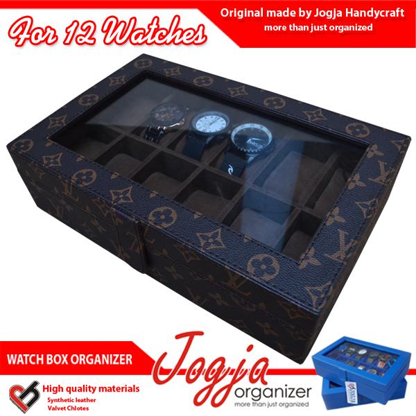Kotak Jam Tangan isi 12 LV Monogram