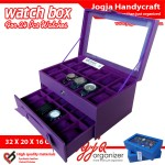 Cute Purple Watch Box For 24 Watches / Kotak Jam Tangan Isi 24