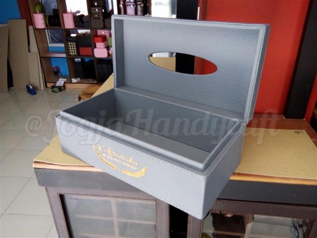 Elegan Tissue Box Abu-abu