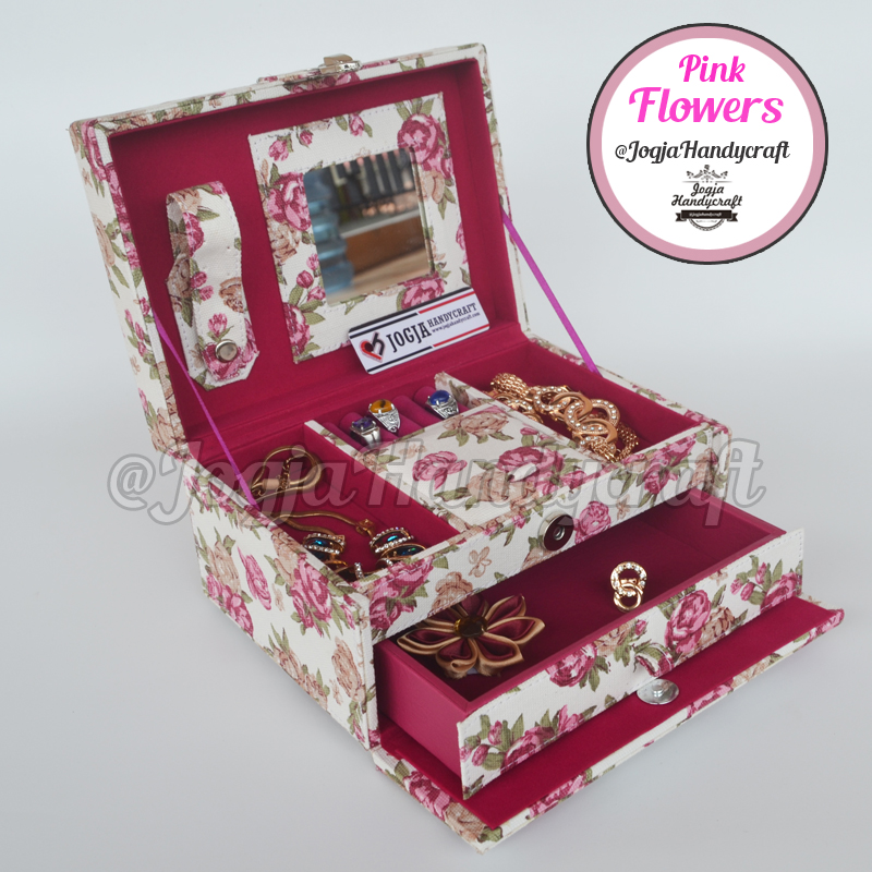 Pink Flowers Jewellery Box | Kotak Tempat Perhiasan & Accesories