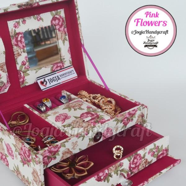 Pink Flowers Jewellery Box   Kotak Tempat Perhiasan & Accesories