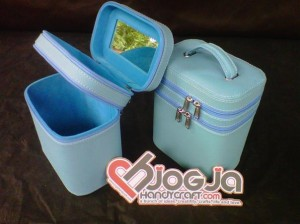 Make Up Case Double Baby Blue