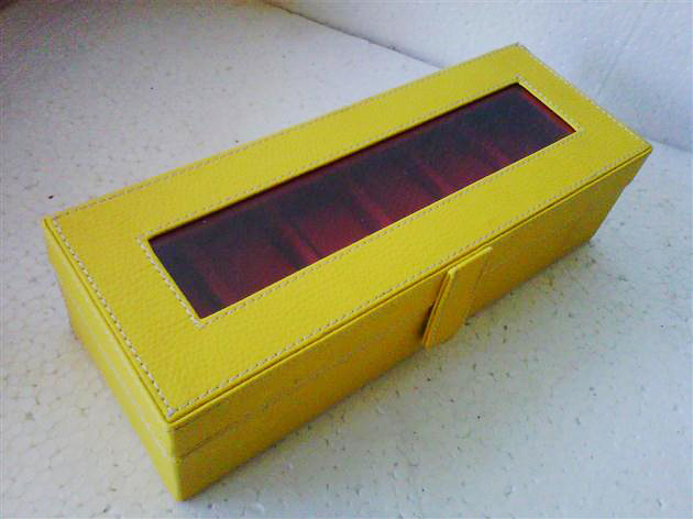 Box Jam Isi 6 Leather Vinyl Yellow Red