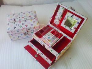 Cute White LV Jewelry Box