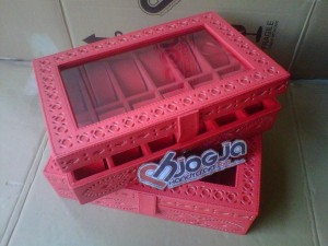 Box Jam Tangan Isi 12 Motif Ukir By Hand Red