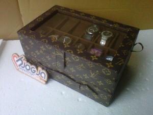 New Box Jam Tangan Mix Accesories Drawer Jogja Handycraft Motif LV