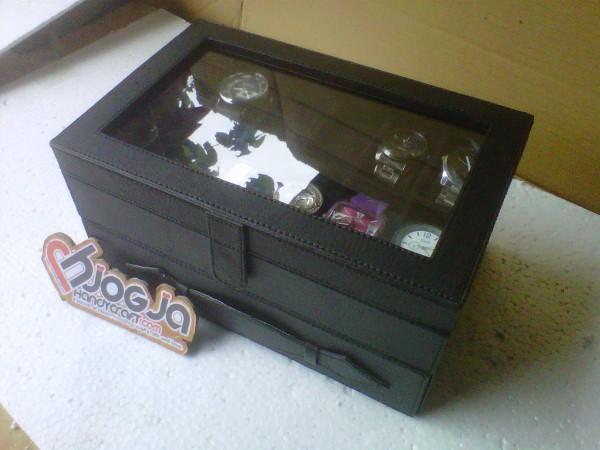 New Box Jam Tangan Mix Accesories Drawer Jogja Handycraft Full Black