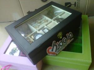 Kotak Jam Tangan Mix Tempat Perhiasan - 3in1 Boxes Black