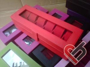 New Watch Box Organizer Isi 6 Full Red Jogja Handycraft