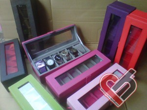 New Watch Box Organizer Isi 6 Jogja Handycraft