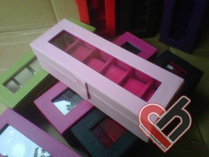 New Watch Box Organizer Isi 6 Baby Pink Jogja Handycraft